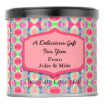 Fancy Bright Pink Artsy Pattern Hot Chocolate Drink Mix