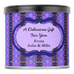 Fancy Purple Blue Pattern Hot Chocolate Drink Mix