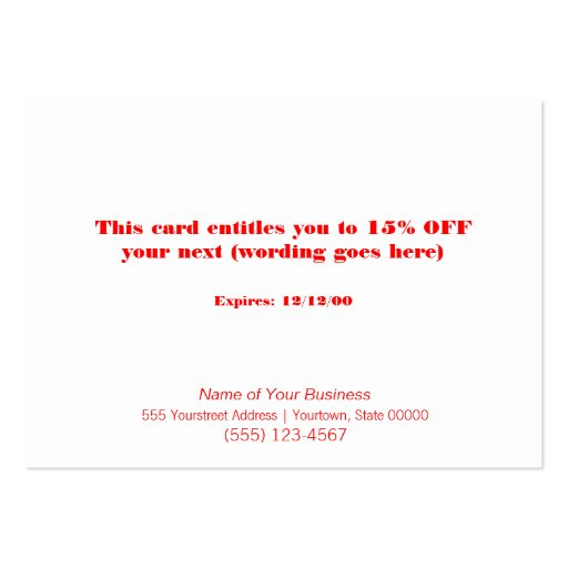 Faux Sequins Salon and Spa Holiday Gift Card Business Card Template