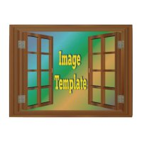 Faux Window Create Your Own Wood Print | Zazzle