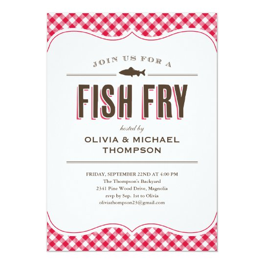 fish fry invitation template