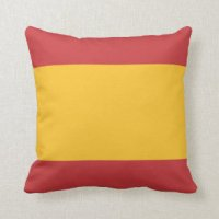 Spanish Flag Pillows - Decorative & Throw Pillows | Zazzle