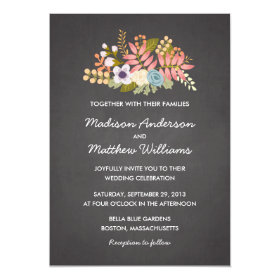 FLORAL CHALKBOARD | WEDDING INVITATION