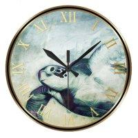 Flying Green Sea Turtle | Wall Clocks | Zazzle