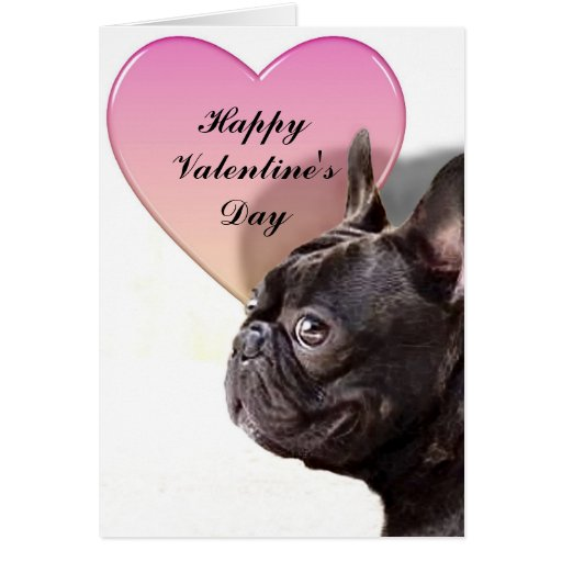 Franse Bulldog French Bulldog Valentines Day Card | Zazzle