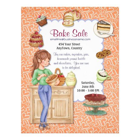 Fresh Goodness Bake Sale Flyer Zazzle