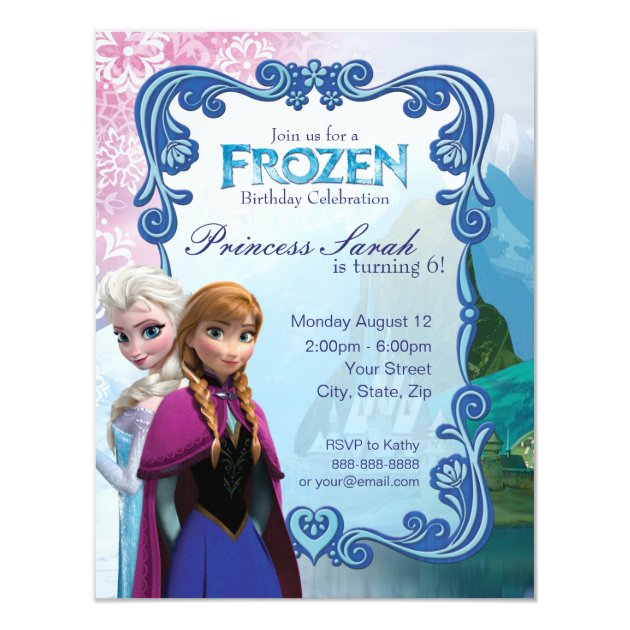 Frozen Birthday Party Invitation Zazzlecom