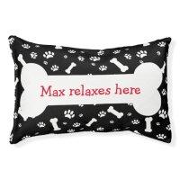 Funny Dog Bone Pillows Dog Bed   Zazzle