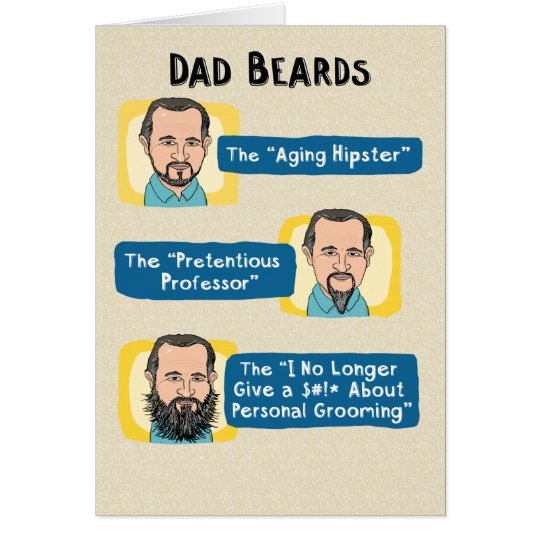 Funny Father\u0027s Day Card Dad Beards Card Zazzle - father day cards