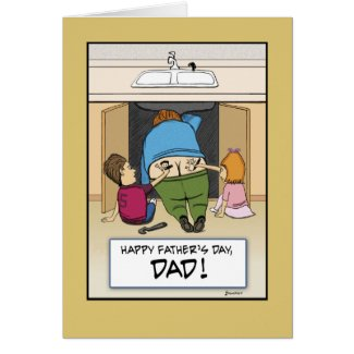 Funny Father's Day card: Work of Art