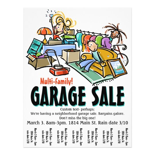 free garage sale flyer template