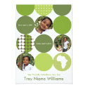 Garden Green Circles 5x7 Paper Invitation Card