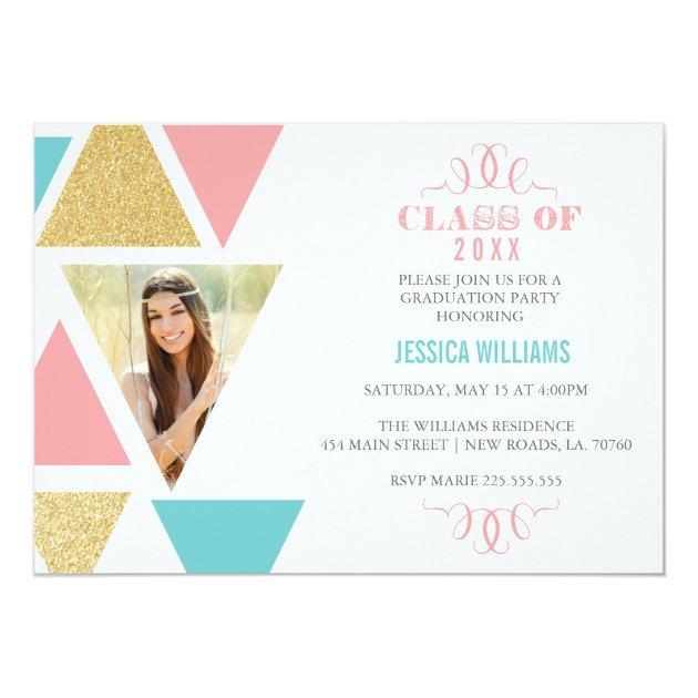 Personalized Glitter Graduation Invitations CustomInvitations4U - graduation photo invitations