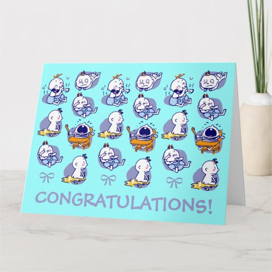 giant size card congratulations new baby boy Zazzle