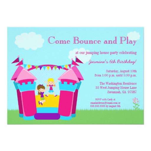 Review Girl\u0027s bounce house birthday party invitation - Kids Birthday