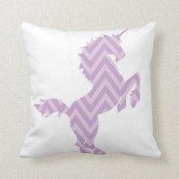 Girls Reversible Purple Unicorn Pillow Pillows   Zazzle