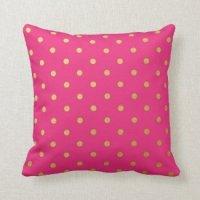 Pink Polka Dot Pillows | Pretty Throw Pillows