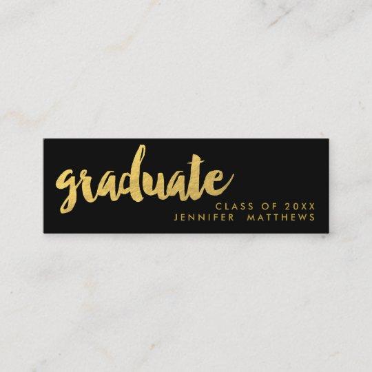 Gold Graduate Script Business Card Zazzle
