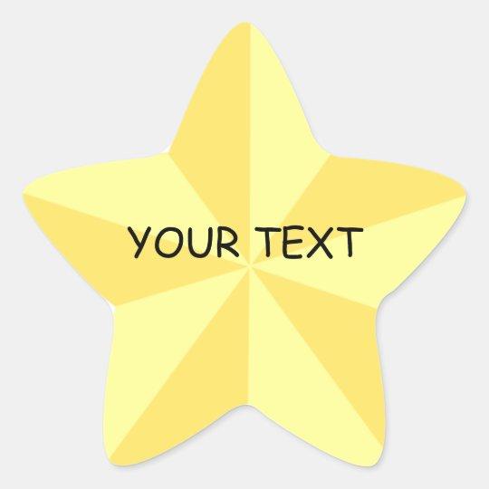 Gold Star Star Shape Sticker Template Zazzle - star template