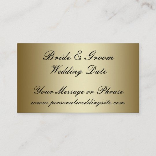 Gold Wedding Website Insert Card for Invitations Zazzle