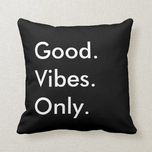 Good Vibes Only Customizable Black And White Throw