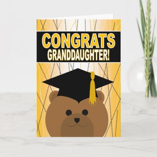 Graduation Congratulations for Granddaughter Card Zazzle