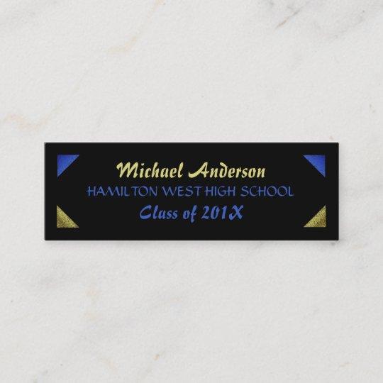 Graduation Name Card Senior Year Insert Gold Foil Zazzle