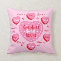 Grandma's Sweethearts Personalized Pillow | Zazzle