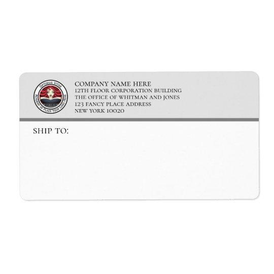Gray White Business Shipping Label Zazzle