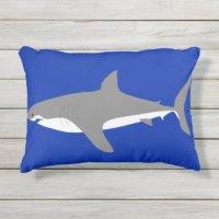 Shark Outdoor Pillows & Cushions | Zazzle