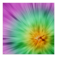 Green And Purple Tie Dye Poster | Zazzle