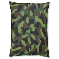 Green Camo Camouflage Dog Bed | Zazzle