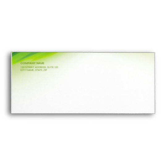 Green Wave envelope Zazzle