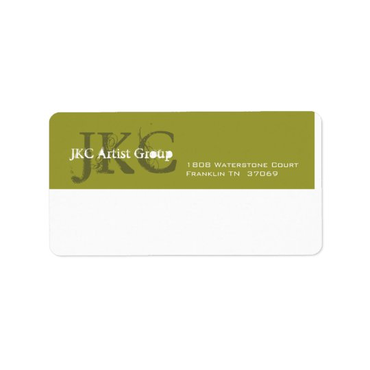 Green White Three Initial Business Shipping Label Zazzle