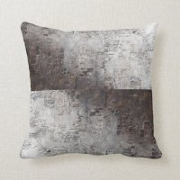 Grey and Brown Space Abstract Throw Pillows | Zazzle