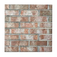 Brick Wall Ceramic Tiles | Zazzle