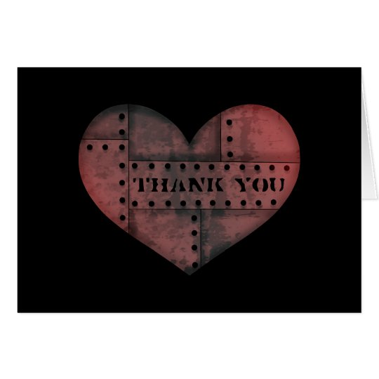 Grungy industrial punk heart thank you Valentine Zazzle