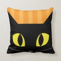 Halloween Black Cat Pillow | Zazzle