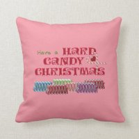Hard Candy Christmas Throw Pillow | Zazzle