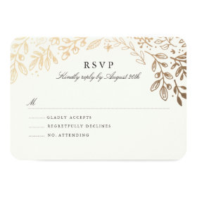 Harvest Flowers RSVP 3.5x5 Paper Invitation Card
