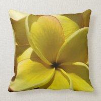 Hawaiian Plumeria Throw Pillow   Zazzle
