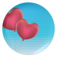 Heart Shaped Balloons Dinner Plate | Zazzle
