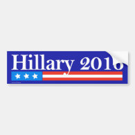 Hillary for President 2016 Bumper Stickers