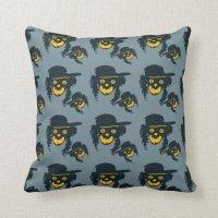 Hipster devil pillow | Zazzle