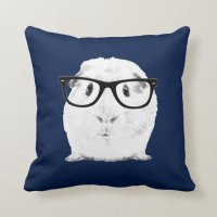 Hipster Pigster Throw Pillow | Zazzle