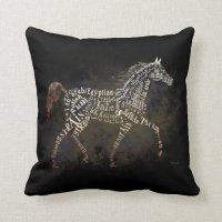 History of the Arabian Horse Throw Pillow | Zazzle