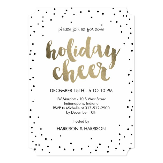 Holiday Cheer Business Holiday Party Invitation Zazzlecom