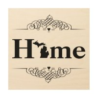 Home Lake Michigan Home Decor Wood Wall Art | Zazzle