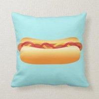 Hot Dog Throw Pillow | Zazzle