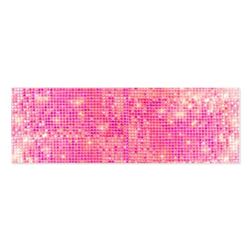 Hot Pink Sparkly Sequins Skinny Business Card